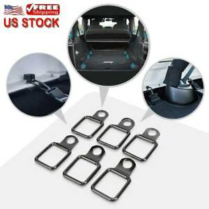 6x Tie Down D Rings Trunk Cargo Net Cover Ring Pull For Jeep Wrangler Jl Jk Tj