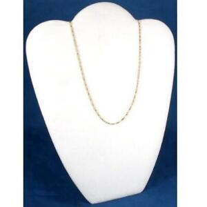 White Velvet Necklace Pendant Jewelry Display 8 5 8 X 10 7 8