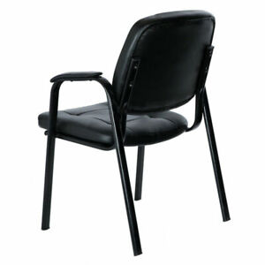 Modern Leather Conference Chair Office Chair Armrest Guest Reception Chair Used