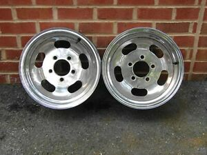 Vintage 14x6 Chrome Slot Wheels Gm 5x4 75 Bolt Pattern