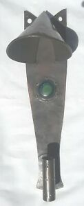 Arts And Crafts Hammered Copper Sconce Bud Vase Ruskin Stone