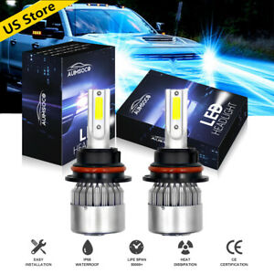 Ice Blue 8000k 9007 Hb5 Cob Led Headlight Bulbs Conversion Kit High Low Beam Us