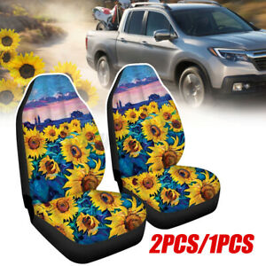 Car Cover Seat Protector Cushion Sun Flower Front Rear Covers Set 1pcs 2pcs