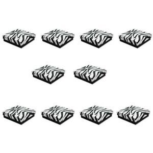 100 Pc 3 1 2 X 3 1 2 X 1 Gift Boxes Jewelry Zebra Animal Print Cotton Filled