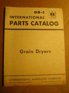 Ih Grain Dryer Parts Catalog Manual