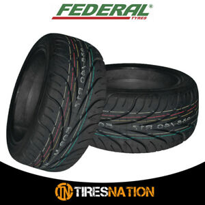 2 New Federal 595rs R 255 40zr17 Tires