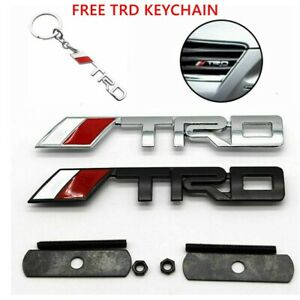 New Silver Or Black T r d Grill Badge Metal Emblem Front Grille Trd Grill Badge