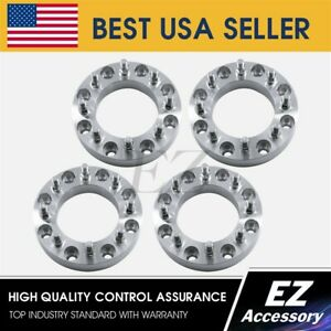 4 Wheel Adapters 8 Lug 8x6 5 Chevy Gmc Spacers 2 Brand New