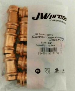 lot Of 10 3 4 Propress Copper Coupling Lead Free Free Shipping