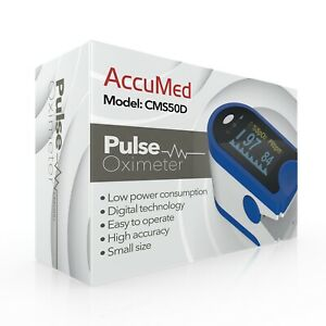 Pulse Oximeter Fingertip Blood Oxygen Monitor Pr Pi Heart Rate By Accumed