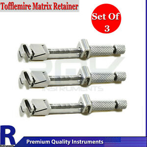 Set Of 3 Universal Tofflemire Matrix Band Retainers Dental Medical Replacement