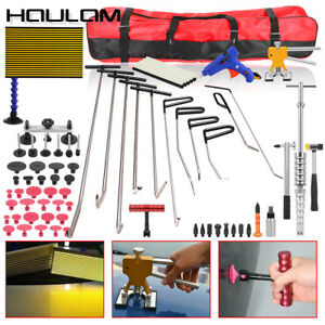 Paintless Dent Removal Puller Tools Push Rods Hail Repair Auto Body Tail Set