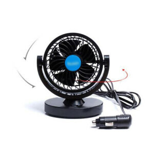12v 24v Dual Head Car Air Cooling Fan Air Flow Truck Cab Portable 360 Cooler