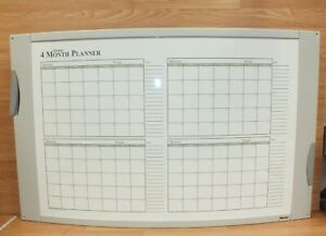 Convex Dry Erase 120 day 4 Month Magnetic Calendar Planning Board read