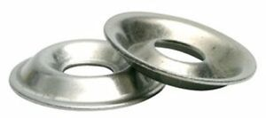 Stainless Steel Flange Cup Finishing Washer 10 Qty 100
