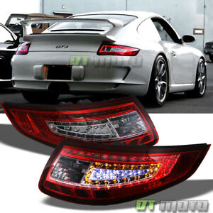 Red Clear 2005 2008 Porsche 997 911 Carrera 4 S 4s Gt2 Gt3 Rs Led Tail Lights