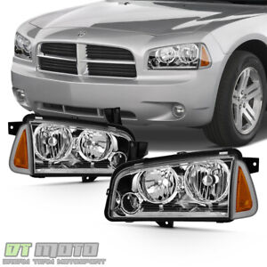 4pcs 2006 2010 Dodge Charger Headlights Headlamps W Corner Lights Left Right