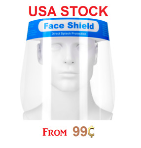 Full Face Shield Sheild Transparent Visor Safety Washable Protection Pack Of 100