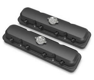 Holley 241 192 2 pc Ls Pontiac Style Valve Covers Satin Black Finish
