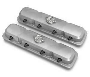 Holley 241 190 2 pc Ls Pontiac Style Valve Covers Natural Finish