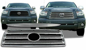 2007 2008 2009 Toyota Tundra Chrome Grill Grille Overlay Insert