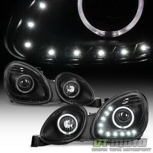 For 1998 2005 Lexus Gs300 Gs400 Gs430 Led Drl Halo Black Projector Headlights