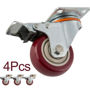 5set 3 Office Chair Caster Wheels Replacement Heavy Duty Safe For All Floors
