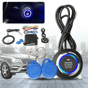 Car Ignition Switch Engine Start Push Button For Keyless Entry Push Starter Kit