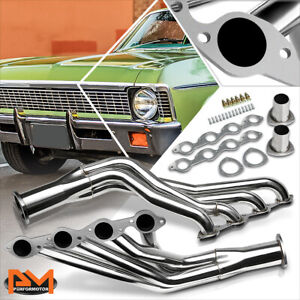 For Chevy Big Block 396 402 427 454 V8 Stainless Steel Long Tube Exhaust Header