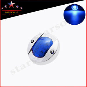 Round Blue 3in Led Side Marker Lights 12v Clearance Trucks Trailer Light