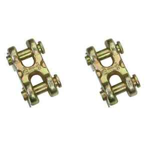 1 2 Grade 70 Double Clevis Hook 2 Pack