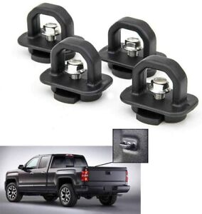 4pcs Tie Down Anchor Truck Bed Side Wall Anchors For Chevy Silverado Gmc Sierra