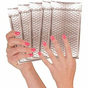 Abc 20 Pack Rose Gold Metallic Bubble Mailers 4 X 8 Matte Colorful Mail 4x8 And