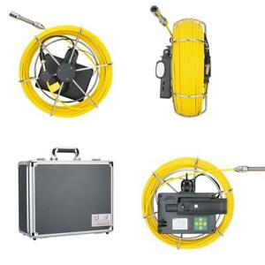 5 Inch 20m Drain Pipe Sewer Inspection Camera System 1200 Tvl Camera Led Lights
