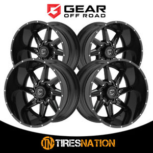 4 Gear Alloy 075751bm Wrath 24x14 8x170 125 20 Hub 76 Offset Black Wheel Rim