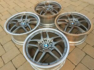 Bmw E36 E46 M3 Oem Cromodora Style 71 18 Staggered Anthracite Polished Wheels