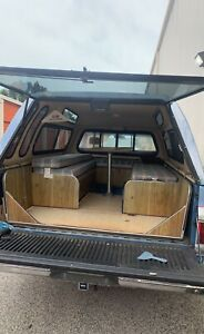 Truck Cap With Seats Storage Boxes And Table Fits For 1984 Chevy C10 8ft Bed