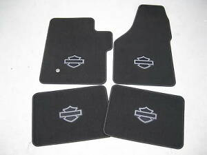2003 2004 2005 Ford F 250 F 350 Harley Davidson Carpeted Floor Mats 4 Piece Set
