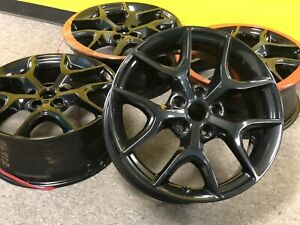 20 Jeep Grand Cherokee Gloss Black Wheels Rims Factory Oem