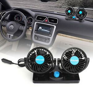 12v 360 rotation Car Vehicle Cooling Air Fan Silent Cooler 2 Speed Adjustable