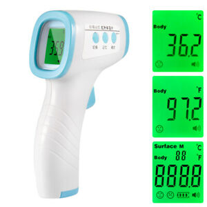 No Touch Infrared Digital Forehead Thermometer Adult Baby Body Temperature Gun