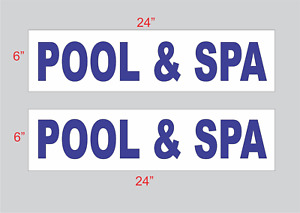 Pool Spa Blue 6 x24 Real Estate Rider Signs Buy 1 Get 1 Free 2 Sided