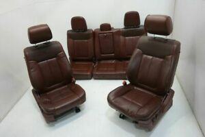 2012 14 Ford F150 Pickup Left Passenger Front Rear Seat Bucket Captain Chair Set