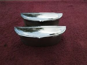 1948 49 50 Hudson Left And Right Rear Ash Trays Good Factory Set Original