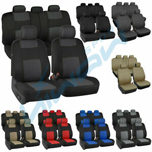 Auto Seat Covers For Car Truck Suv Van Universal Protectors Polyester 5 Color