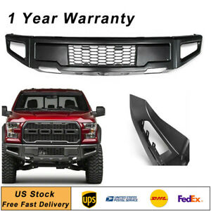 Front Bumper Raptor Style Assembly Steel Fit Ford F 150 F150 2015 2017 2016 Gray