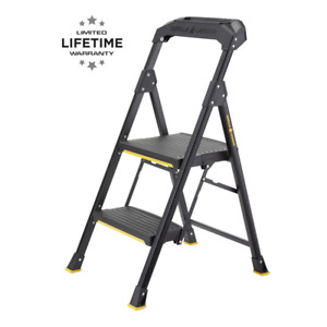 Gorilla Ladders 2 step Pro grade Steel Step Stool 300 Lbs Load Capacity Type I