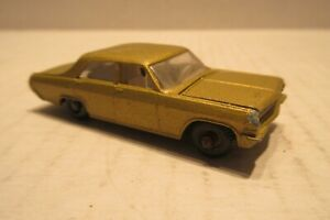 Matchbox Car No. 36 Opel Diplomat Gold with White Interior Made in England