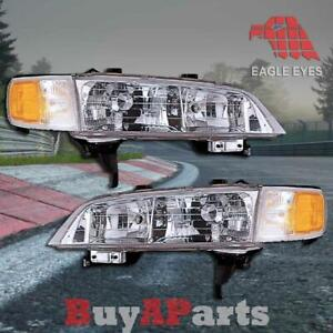 Pair Replacement Headlights For 1994 1997 Honda Accord 2 4 Dr Coupe Sedan