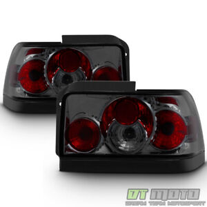 For Smoked Lens 1993 1997 Toyota Corolla Tail Lights Brake Lamps Pair Left right